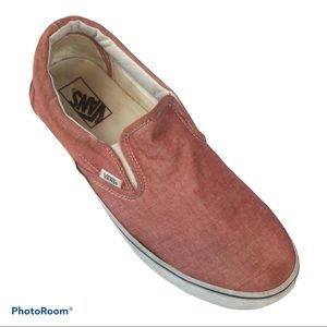 VANS Slipons loafers Pink canvas size 11 AEUC